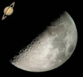 Moon and Saturn